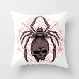 Spider on the way Throw Pillow