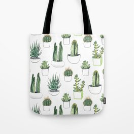 watercolour cacti and succulent Tote Bag