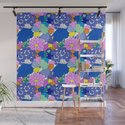 Far-Out 60's Floral in White by elliottdesignfactory