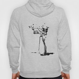 White Vase with Flowers Hoody