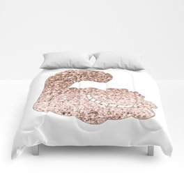 Sparkling rose gold Cheshire Cat Comforters