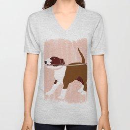 Eugenie the Bull Terrier Unisex V-Neck