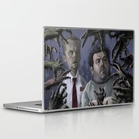 shaun of the dead Laptop & iPad Skins featuring Shaun of the Dead Caricature by Richtoon