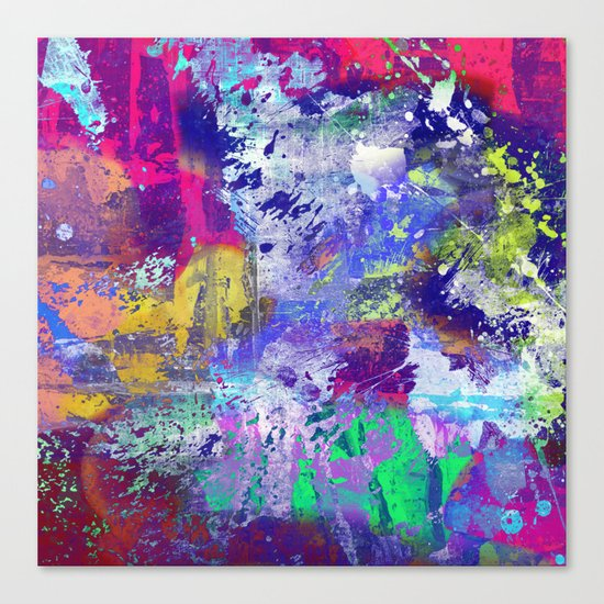 Rainbow Anguish Canvas Print