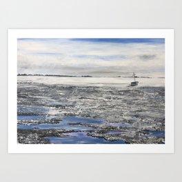 Low Tide at Snettisham Beach Art Print