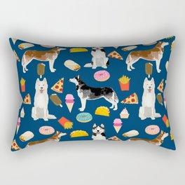 Husky siberian huskies junk food cute dog art sweet treat dogs pet portrait pattern Rectangular Pillow