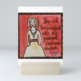 She's Satisfied with God's Goodness Mini Art Print