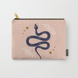Mid Century Magic Mystical Snake Symbol Pink Pastel Hues Contemporary Cool Trendy Style Carry-All Pouch