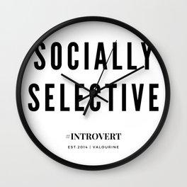 Socially Selective | Introverts Unite Wall Clock