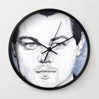 leonardo dicaprio Wall Clocks featuring Leonardo DiCaprio by beecharly
