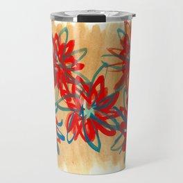 Painted Flowers Travel Mug