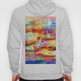 Lost in a universe of colors abstract Hoody