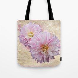 Pink Dahilas Tote Bag