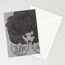 MY LOVE ISN'T CASUAL Stationery Cards