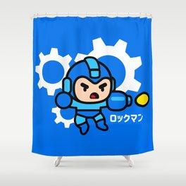 Chibimega Shower Curtain