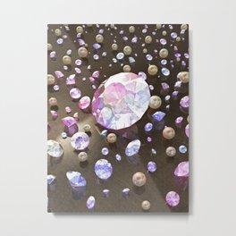 Diamonds and Pearls Metal Print