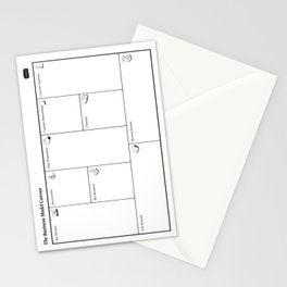 Business Model Canvas Poster for Business Planning and Management Stationery Cards