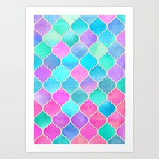 Bright Moroccan Morning - pretty pastel color pattern Art Print
