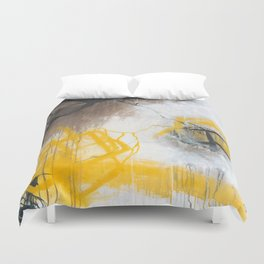 Tension - Square Abstract Expressionism Duvet Cover
