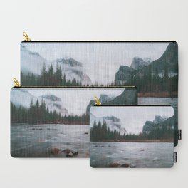 Yosemite Valley View with Fog   Yosemite National Park, CA Carry-All Pouch