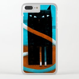 OFFSET WHISKERS Clear iPhone Case