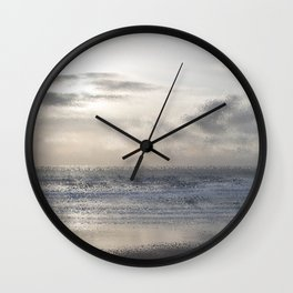 Silver Scene ~ Ocean Ripple Effect Wall Clock