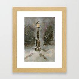 Lamp Post in Blue Framed Art Print