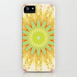 Pastel Yellow Pink Mandala Design iPhone Case