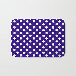 Polka Dot Party in Blue and White Bath Mat