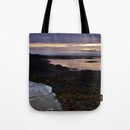 Rock Faced Sunset Tote Bag