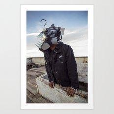 Doernbecher 5 Angler Fish Sneakerhead Gas Mask Art Print