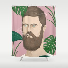 Man plants and cigarettes Shower Curtain