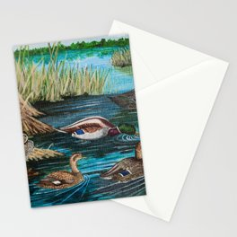 Lake Tranquility Ducks Stationery Cards