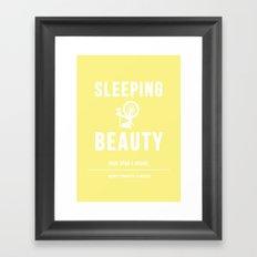 Disney Princesses: Sleeping Beauty Minimalist Framed Art Print