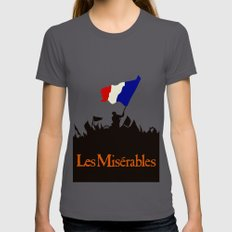 Les Miserables Womens Fitted Tee SMALL Asphalt