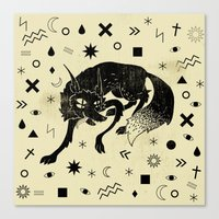 wolf Canvas Prints featuring Wolf by Anya Volk