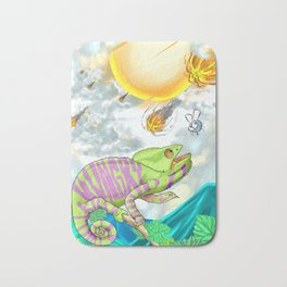 The Hungry Chameleon Bath Mat
