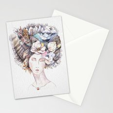 Watercolor dreams Stationery Cards