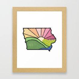 Iowa Sunset Framed Art Print
