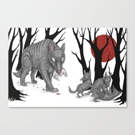 Four Arms - Wolf & Pups Canvas Print