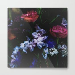 Colourful Moody Blooms Metal Print