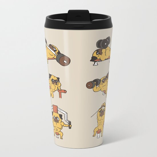 Chest Day with The Pug Metal Travel Mug
