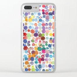 Watercolor Drops Clear iPhone Case