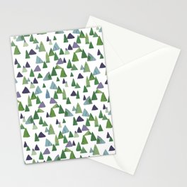 Abstract Watercolor Forest Stationery Cards