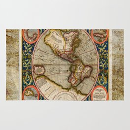 Western Hemisphere Michael Mercator America Rug