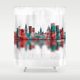Hartford Connecticut Skyline Shower Curtain