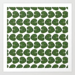 Cyclamen leaf pattern Art Print