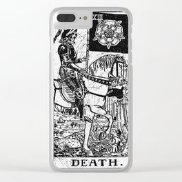 Death Tarot Card - Major Arcana - fortune telling - occult Clear iPhone Case