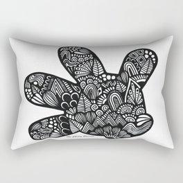 Micky Mouse Hand Rectangular Pillow