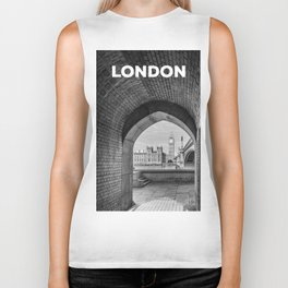 Big ben and bridge Biker Tank